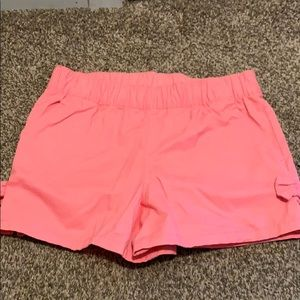 NWOT Carters pink shorts with bows on side